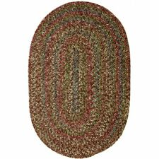 Super Area Rugs Braided Rug Country Cottage Farmhouse Decor Rug in Brown