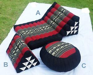 Thai Seat Meditation Pillow Triangle Cotton100% Zafu Cushion Decor kapok100%