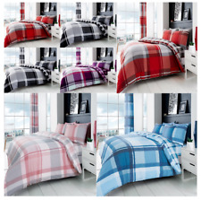 WAVERLY Check Reversible Luxury Duvet Quilt Cover With Pillowcases Bedding Sets