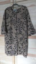Toller Mantel, Cardigan, braun-schwarz, Gr.L, Gr.40, 100% Wolle