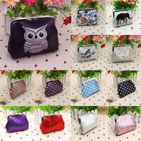 Women's Printing Sequin Dot Leather Wallet Card Holder Coin Purse Clutch Handbag