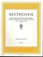 BEETHOVEN ~ Sechs Variationen über ein eigenes Thema F-Dur opus 34