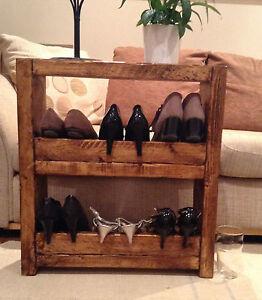 A Hand Made 2 shelf shoe rack or book case