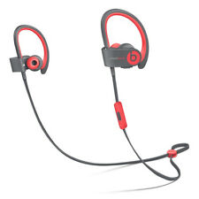 Beats Powerbeats2 Wireless Headphones Grey & Red - Genuine Beats By Dre Ear-Hook