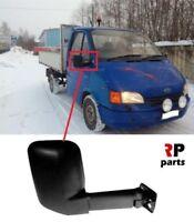 Per Ford Transit 86-94 Specchietto Laterale Manuale Nero Lungo Senza Spoiler Dx