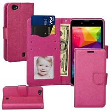 For BLU Neo X (N070U) Leather Wallet Stand Flip Slot Case + Screen Protector