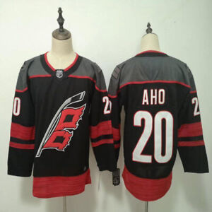 Carolina Hurricanes 20 Sebastian Aho Stitched Ice Hockey Jersey Men's Black Red