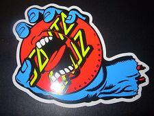 "SANTA CRUZ Skate 5.5"" Sticker wheel Screaming Hand Logo skateboard helmets decal"