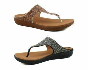 FitFlop Womens Banda II Quartz Toe Thong Comfort Flip Flops Sandals