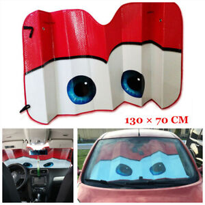 1pcs Red Windscreen Cover Summer UV Protection Visor Accessories For Car SUV