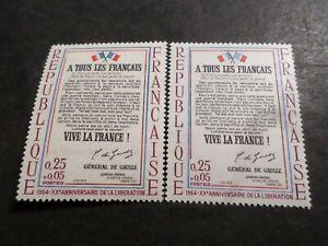 FRANCE 1964, VARIETE DRAPEAUX/DECALAGE ROUGE, timbre 1408 L AFFICHE, neuf** MNH