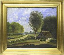 Originale künstlerische Malerei mit Landschafts- & Stadt-Motiv
