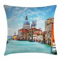 Italy Throw Pillow Cases Cushion Covers Home Decor 8 Sizes by Ambesonne