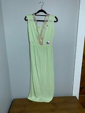 Vintage S.S. Kresge New Old Stock Womens Medium Green Rayon Negligee Nightgown