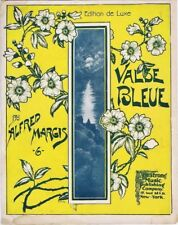 Valse Bleue, ca 190-1910, antique vintage sheet music
