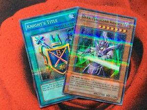 yugioh Dark Magician Knight ROD-EN001 ROD-EN002 Promo set Super Parallel Rare NM