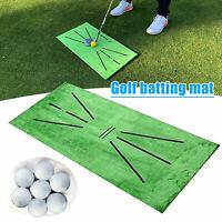 Golfmatte Abschlagmatte 60x30cm Gras Gummi Outdoor Training Pad Golf
