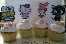 Sanrio (Hello Kitty,Chococat,My Melody and Keroppi) cupcake/cakepop toppers