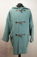 Burberry Vintage Duffle Coat Womens Size UK 12 Reg M / L OverCoat Light Blue