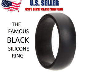 Silicone Wedding Engagement Ring Men Women Rubber Band Gym Sport Flexible