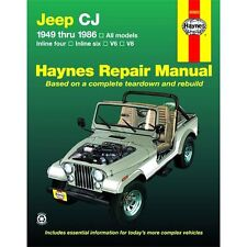Haynes Repair Manual New Jeep CJ7 CJ5 Scrambler CJ6 CJ3 CJ5A 50020