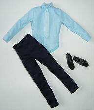Barbie/KEN Clothes/Fashion Light Blue Shirt With Tie, Pants, & Shoes NEW!