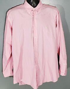 Ralph Lauren BLAKE Men Pink Glen Plaid Long Sleeve Button Down Dress Shirt Large
