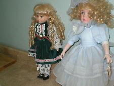 Set Of 2 Vintage Porcelain Dolls