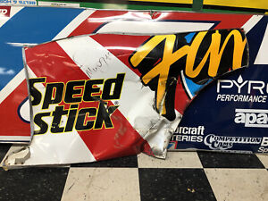 Ted Musgrave Family Channel Autographed Nascar Race Used Sheetmetal Rear Qtr