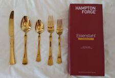 Hampton Forge Essenstahl Titanium 20-Piece Flatware Set Gold