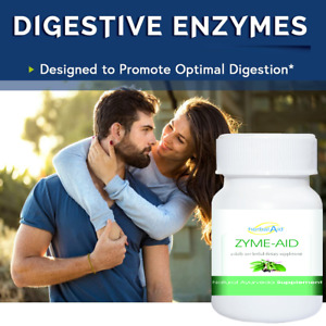 ZYME-AID 60 Capsules - Digestive Enzymes Max Strength Supplement For Digestion