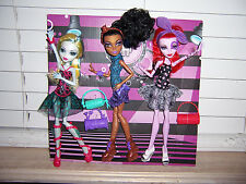 Monster High 3 Dance Class Dolls ROBECCA -- OPERETTA  -- LAGOONA Complete LOOSE