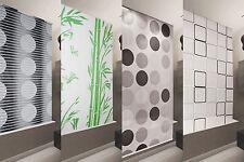 Store de douche basique 7 Largeurs au choix Rideau noir vert blanc transparent