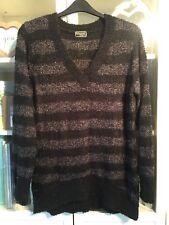 X48 Originals Plus Sz XL 18/20 Black&Grey Bobble Knit Long Jumper