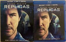 REPLICAS BLU RAY DVD 2 DISC SET + SLIPCOVER SLEEVE FREE WORLD SHIPPING KEANU REE