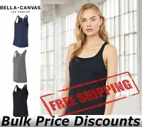 BELLA + CANVAS Women's Relaxed Jersey Tank Sleeveless Top 6488 up to 2XL