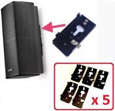 5 New Bose SlideConnect WB-50 Wall Brackets WB50 - Black (aka UB20-II / UB-20).