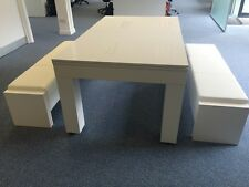 ** DUO MILANO** Hi GLOSS Pool Diner Table Seats 6-12 From **SUPERPOOL UK**