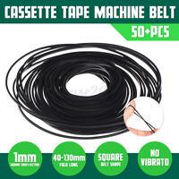 50stk 40-130mm Antriebsriemen Tonband Tonbandmaschine Belt Rubber Tape Set