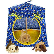Blue, sparkling star print Toy Play Fabric House, 2 Sleeping Bags, handmade