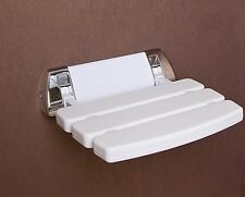 Wall Mounted Bathroom Fold up Shower Seat   holds upto 160KG