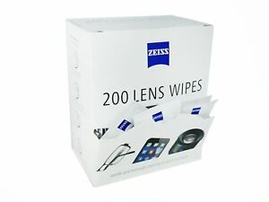 ZEISS Lens Wipes - Pack of 200 - FREE POSTAGE - CHEAPEST IN EBAY***