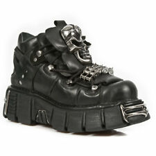 New Rock Shoes M.111-S1 Schoenen Black Leather Metallic Goth, Punk EUR 44