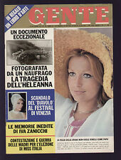 GENTE 36/1971 LUDMILLA TCHERINA CAROLINE GRACE MONACO SANDRELLI DARIO ARGENTO