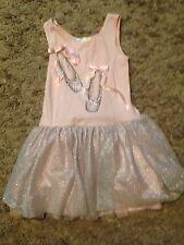 Girls Biscotti Ballerina Pink Sparkle Tunic Dress Size 6X/7