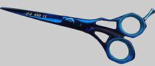 Professional Barber Hairdressing Blue Titanium Coated Scissors 5.5 Tweezer