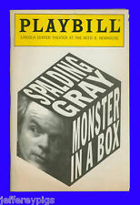 Playbill + Monster in a Box + Spalding Gray + Written by Spalding Gray