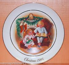 """Enjoying the Night Before Christmas"" 1983 Avon Christmas Memories Plate Series"