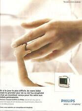 PUBLICITE PHILIPS Moniteur conçu pour Bébés Prématurés 2006