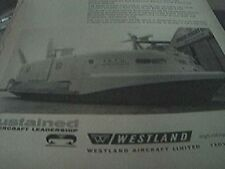 magazine item - 1964 - advert westland yeovil hovercraft high riding